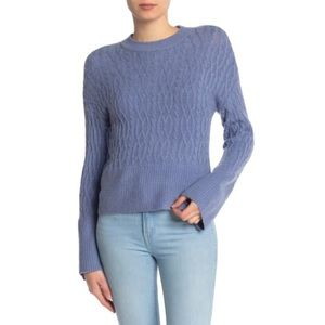 Design History Cable Knit Bell Sleeve Sweater